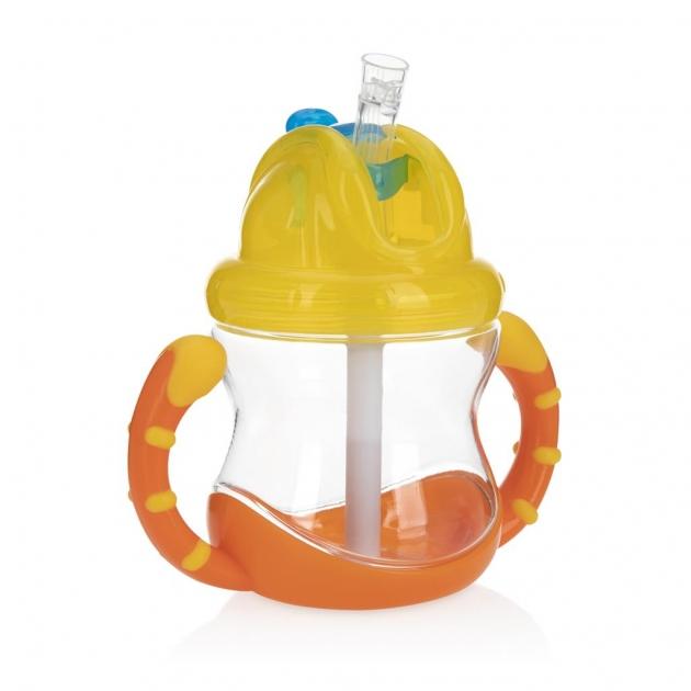 晶透雙耳防漏彈跳杯(粗吸管) 2
