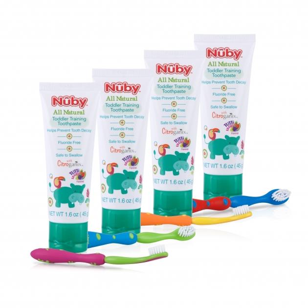 兒童訓練牙膏&兒童軟毛牙刷組 1