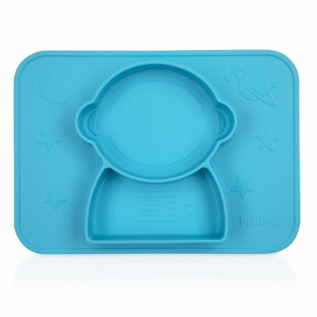 矽膠分隔餐盤/太空人(粉/藍) 2