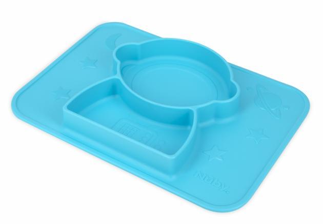 矽膠分隔餐盤/太空人(粉/藍) 3