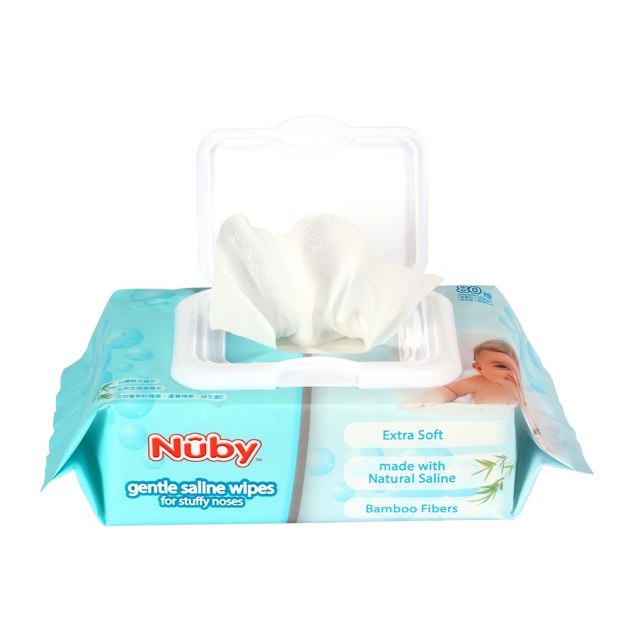 Nuby食鹽水柔濕巾(80抽/3包) 2