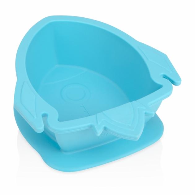 矽膠餐碗/火箭(粉/藍) 5